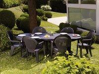 Grosfillex ensemble de jardin Vega/Vegetal anthracite ...