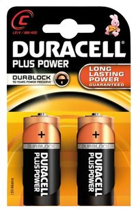 Duracell 2 C-batterijen Plus Power