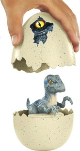 Jurassic World figuur Hatch 'n Play Dinos Velociraptor Blue-Artikeldetail
