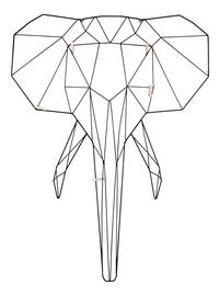 Memobord Linea Elephant-Vooraanzicht