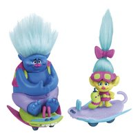 Trolls set de jeu 2 figurines avec skate-boards