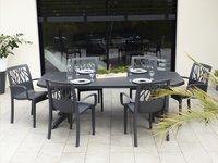 Grosfillex chaise de jardin Vegetal anthracite-Image 1