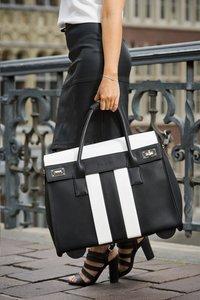 Olivia Lauren businesstrolley Buzz zwart/wit-Afbeelding 1