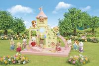 Sylvanian Families 5319 - Le château et Crème, bébé Lapin Chocolat-Image 1