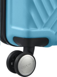 American Tourister Harde reistrolley Visby Spinner light blue 76 cm-Onderkant