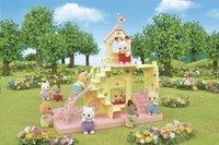 Sylvanian Families 5319 - Le château et Crème, bébé Lapin Chocolat-Image 3