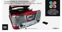 Bigben radio/lecteur CD/tourne-disques TD79RM Nostalgia rouge-Détail de l'article