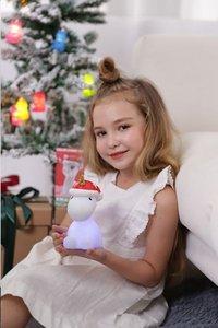 Nachtlampje Unicorn met kerstmuts X-mas-Afbeelding 2