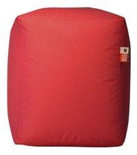 Poef Cube rood