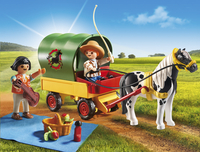 PLAYMOBIL Country 6948 Enfants avec chariot et poney-Image 1