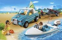 Playmobil Summer Fun 6864 Pick-up met speedboot-Afbeelding 1