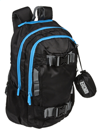 Kangourou rugzak Sport zwart/blauw-Linkerzijde