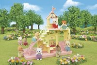 Sylvanian Families 5319 - Le château et Crème, bébé Lapin Chocolat-Image 2