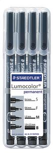 STAEDTLER feutre Lumocolor - 4 pièces-Avant