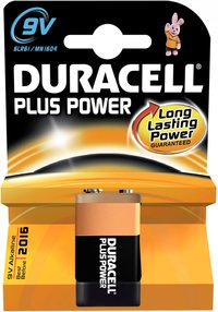 Duracell pile 9V Plus Power