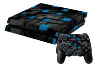 PS4 skins 3D Cubes voor console + 2 skins voor controllers