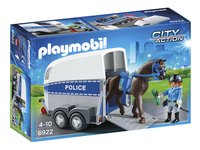 PLAYMOBIL City Action 6922 Bereden politie met trailer-Linkerzijde