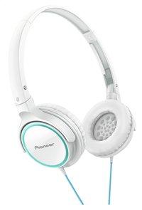 Pioneer hoofdtelefoon SE-MJ512 wit/turquoise