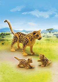 Playmobil Wild Life 6940 Luipaard met welpen-Afbeelding 1