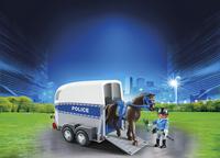 Playmobil City Action 6922 Policière avec cheval et remorque-Image 1