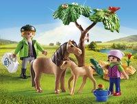 Playmobil Country 6949 Vétérinaire avec enfant et poneys-Image 1