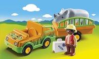 PLAYMOBIL 1.2.3 70182 Vétérinaire avec véhicule et rhinocéros-Image 1