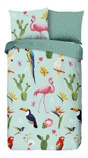 Good Morning Housse de couette Flamingo Tropics coton Lg 140 x L 220 cm-Avant