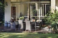 Allibert Table de jardin Lima gris graphite L 240 x Lg 97 cm-Image 2