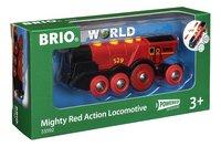 BRIO World 33592 Locomotive rouge puissante à piles-Côté gauche