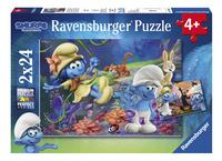 Ravensburger puzzle 2 en 1 Les Schtroumpfs et le Village Perdu