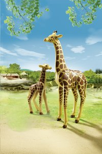 PLAYMOBIL City Life 6640 Girafe et girafon-Image 1