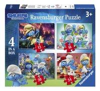 Ravensburger Puzzle 4 en 1 Les Schtroumpfs et le Village Perdu