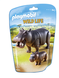 Playmobil Wild Life 6945 Hippopotame et son petit-Avant