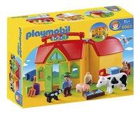 Playmobil 1.2.3 6962 Meeneemboerderij met dieren-Vooraanzicht
