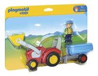 Playmobil 1.2.3 6964 Boer met tractor en aanhangwagen-Vooraanzicht