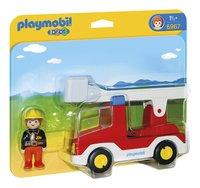 PLAYMOBIL 1.2.3 6967 Brandweerwagen met ladder-Vooraanzicht