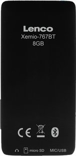 Lenco mp4-speler Xemio-767 BT 8 GB zwart/roze-Achteraanzicht
