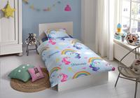 Good Morning Dekbedovertrek Unicorn Dreams katoen 140 x 220 cm-Afbeelding 1
