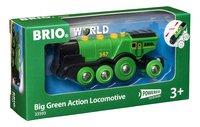 BRIO World 33593 Locomotive verte puissante à piles-Côté gauche