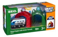 BRIO World 33834 Smart Tech Locomotive intelligente et portiques-Côté gauche