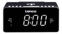 Lenco wekkerradio CR-550 zwart-Vooraanzicht