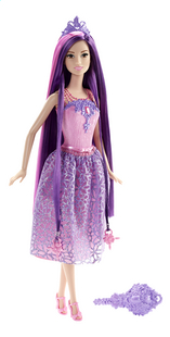 Barbie poupée mannequin  Endless Hair Kingdom mauve-Avant