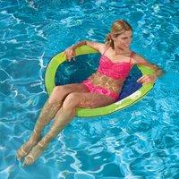 Swimways luchtzetel voor 1 persoon Papasan geel-Afbeelding 1