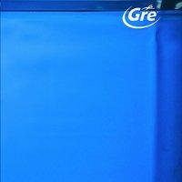 Gre bâche de rechange piscine Splasher diamètre 4,5-4,6 m bleu-Avant