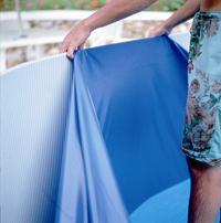 Gre bâche de rechange piscine Splasher diamètre 4,5-4,6 m bleu-Image 2