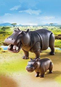 Playmobil Wild Life 6945 Hippopotame et son petit-Image 1