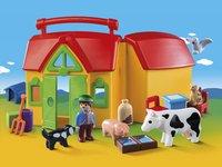 Playmobil 1.2.3 6962 Meeneemboerderij met dieren-Afbeelding 1