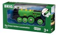 BRIO World 33593 Locomotive verte puissante à piles-Côté droit