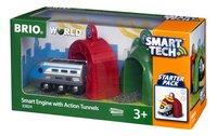 BRIO World 33834 Smart Tech Locomotive intelligente et portiques-Côté droit