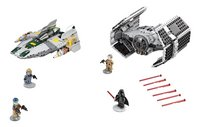 LEGO Star Wars 75150 Le TIE Advanced de Dark Vador contre l'A-Wing Starfighter-Avant